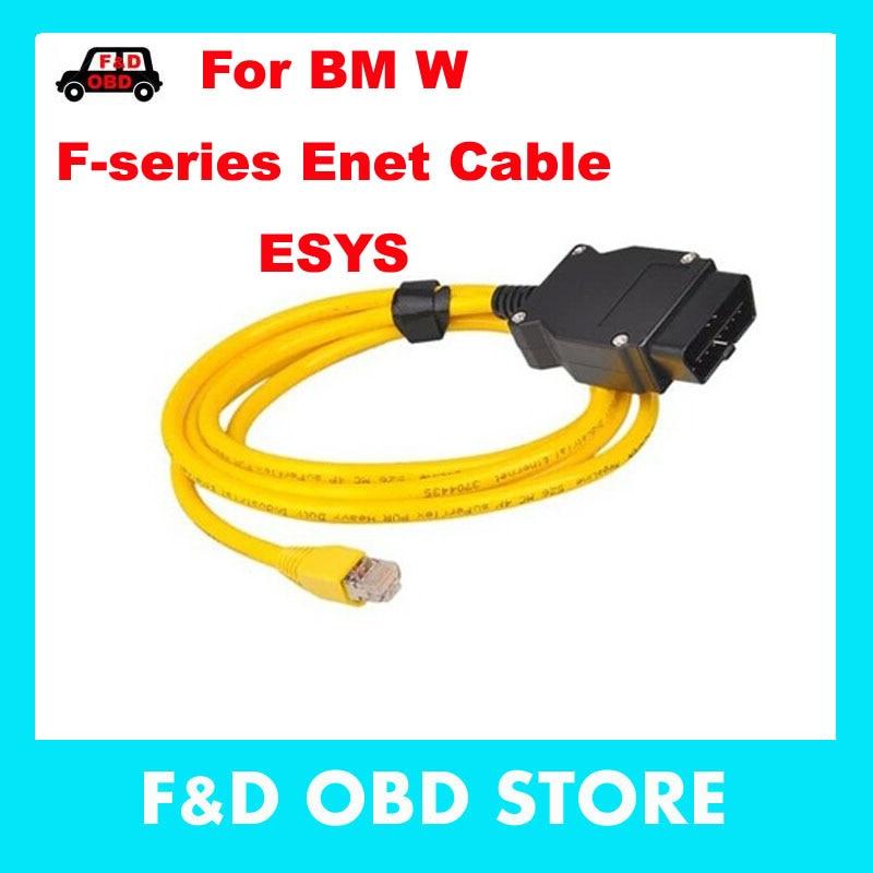 Цена за 2017 Новый ESYS 3.23.4 V50.3 Для BMW ENET Кабель для Передачи Данных Ethernet к OBD Интерфейс E-SYS ICOM Кодирования для F-серия Диагностический кабель