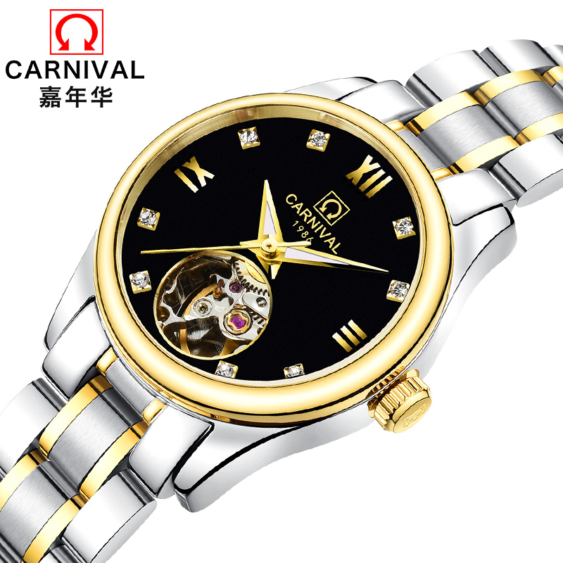 Luxury Brand Carnival Women Watches ladies Automatic Mechanical Watch Women Sapphire Waterproof relogio feminino Clock C8789L-3 luxury brand carnival women watches ladies automatic mechanical watch women sapphire waterproof relogio feminino clock c8789l 2