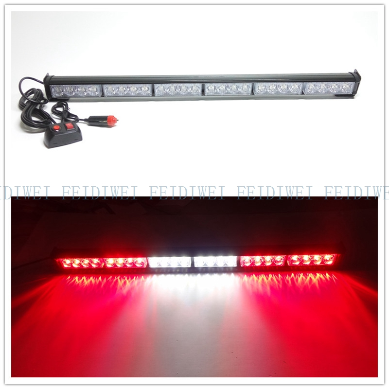 цена на 09007 7Modes 4 LED 27 12C Car External Lights Emergency Warning Lights Tow Traffic Advisor Flash Strobe Light Bar 24W FALSH