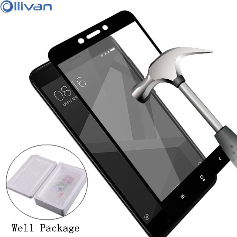 For Xiaomi Redmi 4x Tempered Glass HD Full Cover 4 Pro Note 4x 32gb 64gb Mi6 Glass Mi5 Screen Protector Guard Pelicula De Vidro