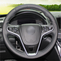 leather hand Top Leather Steering Wheel Hand-stitch on Wrap Cover For Buick Regal Opel Insignia 2014 2015 (1)