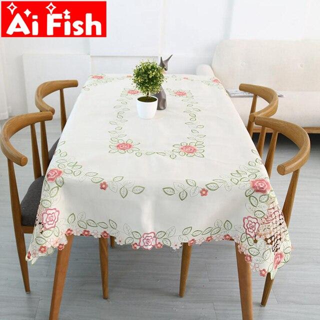 Mesa de comedor europeo multifunción hueco bordado flores para la ...