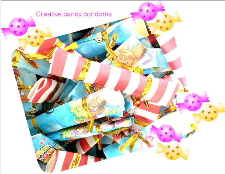 Methodical 1pc Latex Condoms Novelty Candy Condom Adult Contraceptive Supplies Random Color Relieving Rheumatism Safer Sex