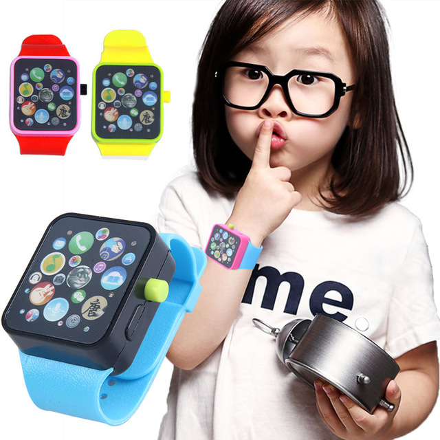 2018 New Children Teaching Watch Fashion Kids Watch Cartoon Cute rubber Watchban