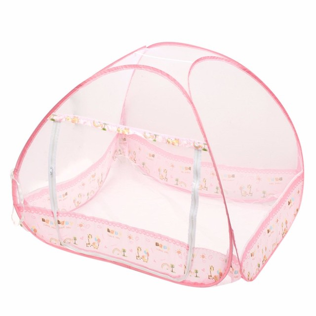 Baby Mosquito Net Bed Crib Tent Type Foldable 0-3 Years Pink/Blue Portable  sc 1 st  AliExpress.com & Baby Mosquito Net Bed Crib Tent Type Foldable 0 3 Years Pink/Blue ...