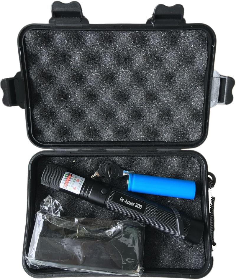High power Laser taschenlampe 532nm Pointer Brennen Spiel Laser Pen mit Sicheren Schlüssel Grün Rot laser + 18650 batterie + ladegerät + Box