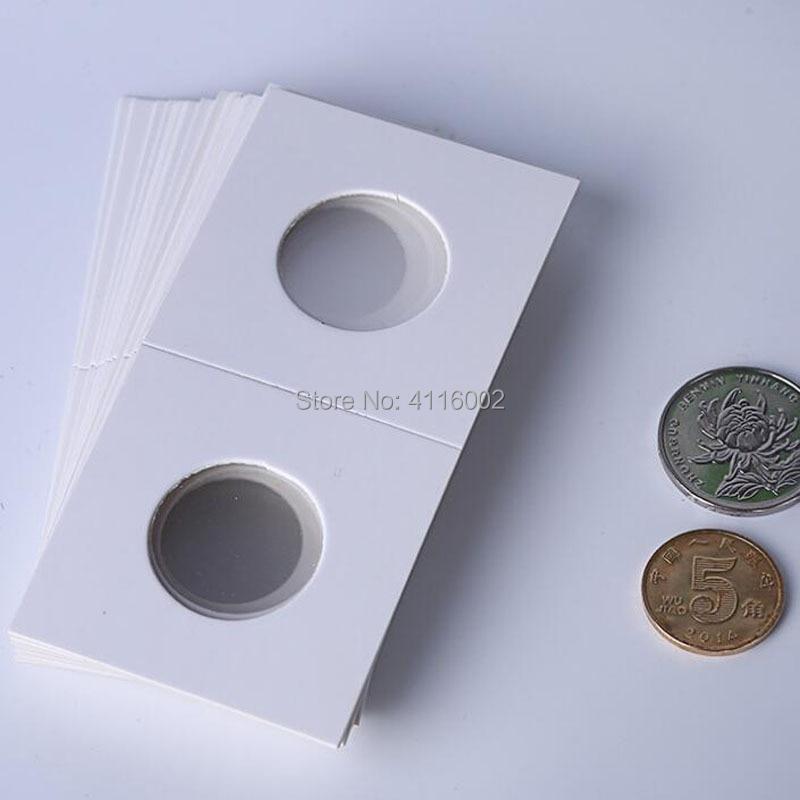 200 Packs 50 stks/pak 20.5mm 25mm Munthouders Opslag Clip case papieren zakken Flip 2x2 Flips papier Boards Muntenverzameling Home Decor-in Fotoalbum van Huis & Tuin op  Groep 1