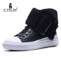2018 г. новые зимние кожаные ботинки с низким верхом, женские ботинки на плоской подошве, на молнии, с круглым металлическим украшением, легкие