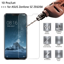 10 Pcs/Lot 2.5D 0.26mm Premium Tempered Glass For Asus Zenfone 5z ZS620KL Screen Protector protective film