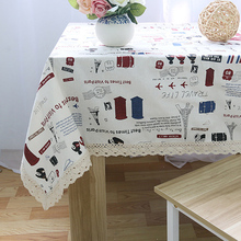 Simanfei 2017 New Graffiti Table Cloth Toalha De Mesa Home Linen  Rectangular Wedding Tablecloths Fresh Small Pine Style