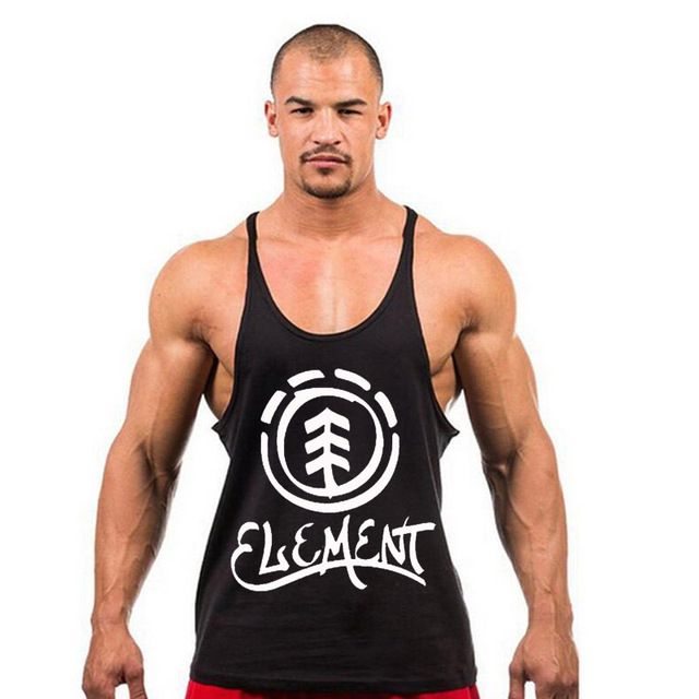36a849149ffed New Fitness Tank Top Men Sleeveless Bodybuilding Stringer Singlet Fitness  Men s Cotton Singlets Muscle Y BACK Racer X-20