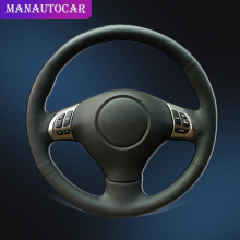 Car Braid On The Steering Wheel Cover for Subaru Forester 2008-2012 Impreza 2008-2011 Legacy 2008-2010 Exiga 2 Auto