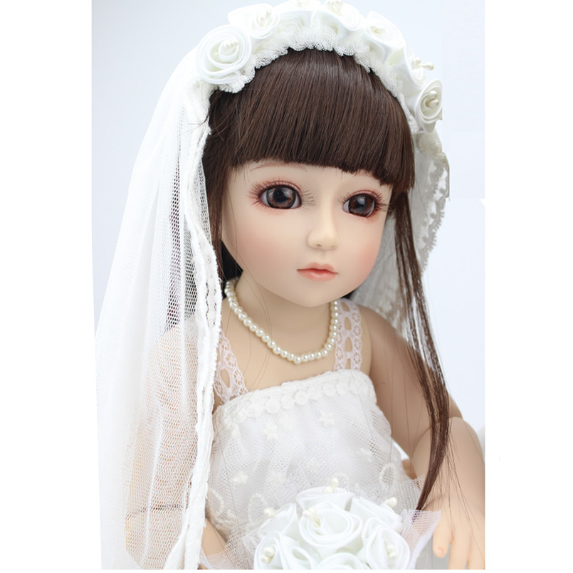 18 Inch Dolls Handmade BJD Doll Reborn Babies Toys for Girls,45CM Jointed Plastic Toy Dolls for Wedding/Valentines Day Gifts