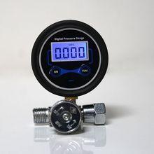"""Цифровой 1/"""" 200PSI регулятор давления воздуха Манометр регулирующий клапан для распылителя"""
