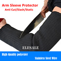 Free Shipping 1 Pair  Arm Sleeve Protector Anti Cut/Slash/Static Resistant Armband Stainless Steel Wire Working Safety