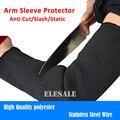 Frete Grátis 1 Par Arm Sleeve Protector Anti Corte/Corte/Static Resistente Braçadeira de Fio de Aço Inoxidável de Segurança de Trabalho