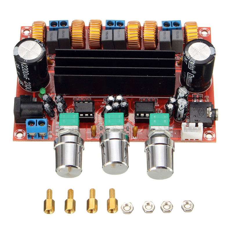 New Arrival TPA3116D2 50Wx2+100W 2.1 Channel Digital Subwoofer Amplifier Board 12V-24V Power 4 1 channel lm4780 amplifier finished board ac 24v 28v 4x68w 130w subwoofer