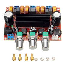 New Arrival TPA3116D2 50Wx2 100W 2 1 Channel Digital Subwoofer Amplifier Board 12V 24V Power