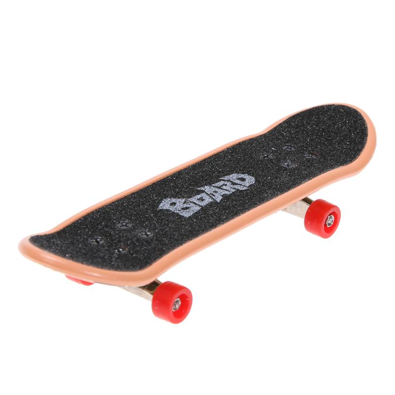 Fun Table Game Finger Skateboard with Ramp Parts Plastic Black Mini Finger Skating Training Board + Track for Kids Toys Gift