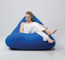 Elegant Cobalt blue bean bag chair, adults outdoor beanbag sofa seat furniture