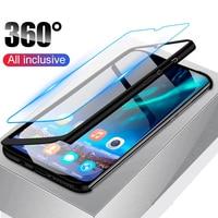 360 gradi Completa Del Corpo di Caso Della Copertura per Xiaomi Mi 5X 6X A1 A2 8 SE Max 2 3 F1 Redmi s2 4A 4X 5A 6A 6 Pro Nota 3 4 4X 5 6 7 Pro Casi