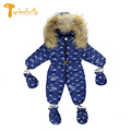 TWINSBELLA Baby Boys Rompers Winter Babies Outerwear Kids Warm Jumpsuit Baby Duck Down One Piece Clothing for Russian