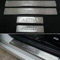 Acessórios do carro de aço inoxidável porta placa de chinelo peitoril Para OPEL VAUXHALL ASTRA ASTRA J 2010 2012 2014