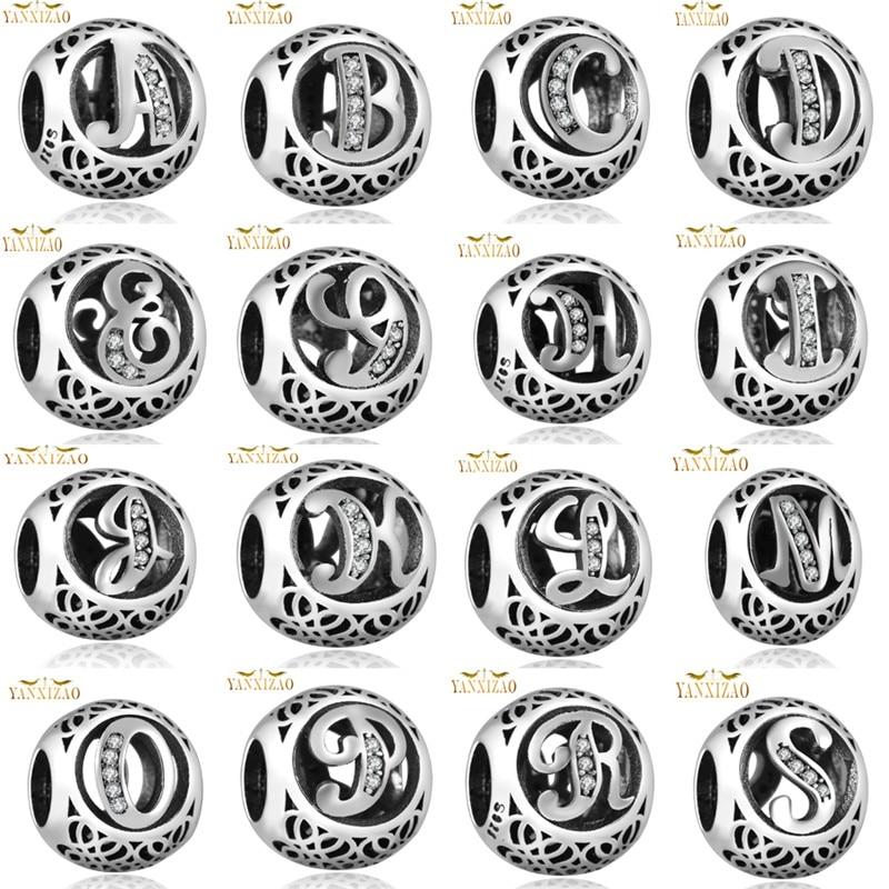 Caliente de plata europea CZ Charm Beads Fit pandora estilo pulsera colgante collar DIY joyas originales