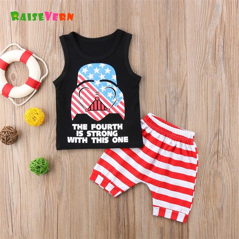 18e0e1e44 2018 Newborn Toddler Children s Sets Sleeveless Boy girl Outfits ...