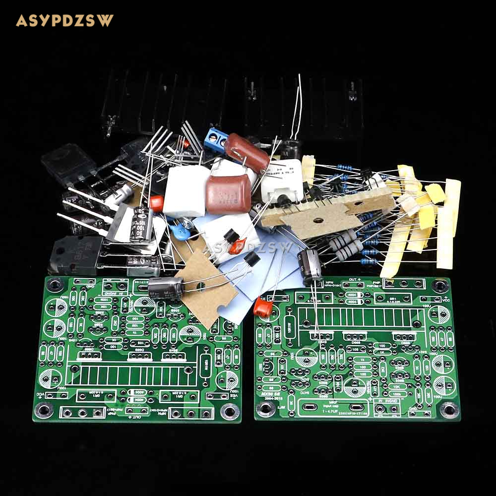 2PCS MX50 SE Power amplifier Kit Dual 2.0 Channel Power amp Kit 100W+100W