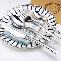 4pcs Silver Cutlery Set 18 10 High Grade Stainless Steel Flatware Mirror Polished Knife Fork Cutlery