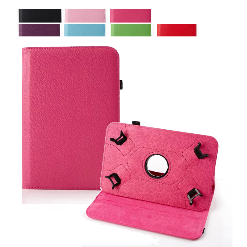 For Mediacom SmartPad 7.0 S2 3G/SmartPad 7.0 Go 7 inch Universal tablet 360 Rotating PU Leather Stand Flip Case Cover+Film
