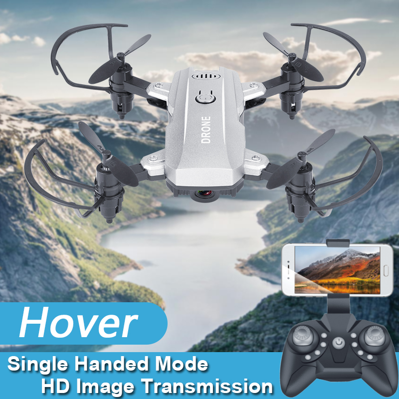 2019 New Arrival mini drone camera Altitude Hold RC Drone Quadcopter With HD Camera Foldable pocket drone children gifts toys in RC Helicopters from Toys Hobbies