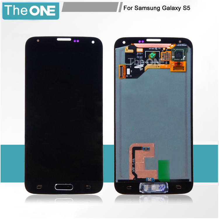 Touch Screen Digitizer + LCD Display Assembly Replacement with home button for Samsung Galaxy S5 i9600 G900A Free Shipping brand new lcd for samsung s5 i9600 g900a g900f g900t screen display with touch digitizer tools assembly 1 piece free shipping