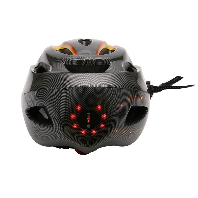 SAVA Vélo casque Vélo casque Nuit vélo en toute sécurité casque avec feu tournant LED Sans Fil contrôle USB charge Casque Universel