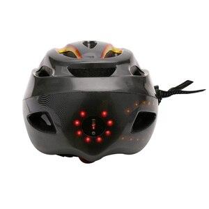 Image 4 - SAVA casque de vélo, pour le cyclisme de nuit, avec clignotant, commande sans fil casque de vélo, charge USB, LED