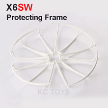 Free Shipping X6SW Protective Frame 2.4G 4CH RC Quadcopter Drone Spare Parts Protective Ring Blcak And White