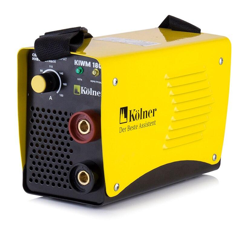 Аппарат сварочный инверторный Kolner KIWM 180 i (мощность 6100 Вт,диапазон тока 20-180 А, 180A/60% , работа при пониженном напряжении)