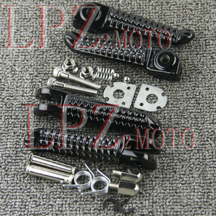 For YAMAHA R1 R6 MT09 MT07 R3 R25 FZ1 FZ6 Motorcycle Front / Rear Footrests Foot Pegs Foot Pedal Spring