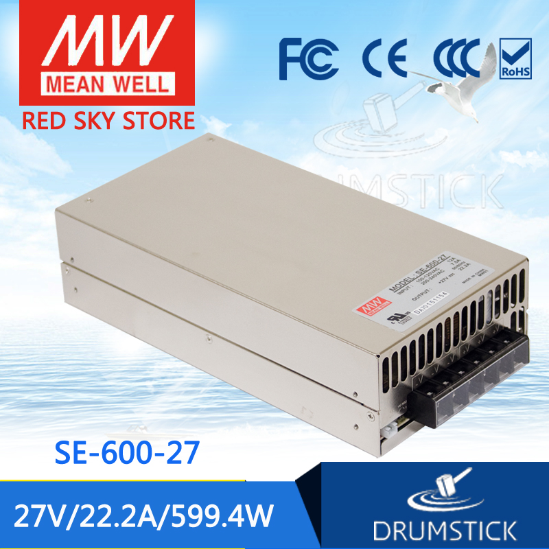 все цены на Best-selling MEAN WELL SE-600-27 27V 22.2A meanwell SE-600 27V 599.4W Single Output Power Supply онлайн