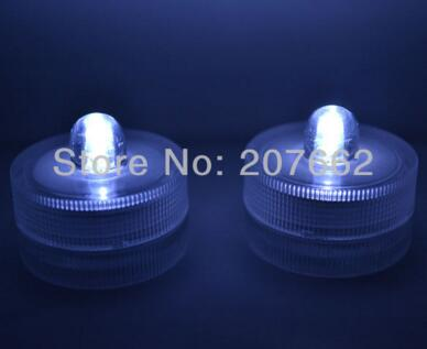 48 шт./лот беспламенного свеча свет погружной водостойкий светодиодная свеча-таблетка огни батарея работает Свадебная ваза - Цвет: white