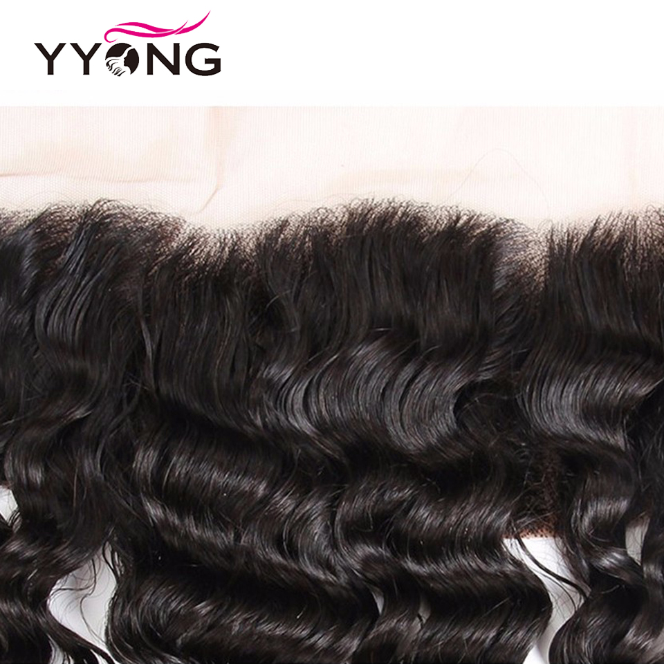 Yyong  Deep Wave  Lace Frontal Closure 13*4 Ear To Ear Free/Middle/Three Part Swiss Lace  Can Be Bleached 3