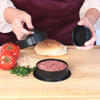 3 In 1 Stuffed Press Meat Hamburger Maker Mould Sliders Non Stick Cooking Tool