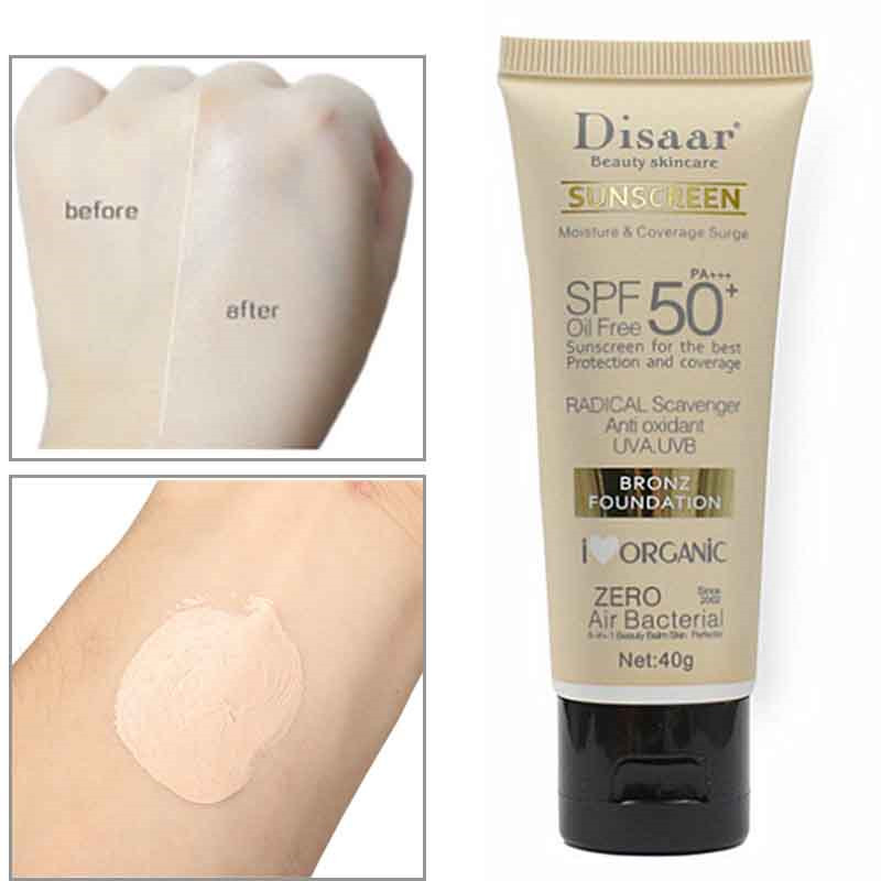 Facial Body Sunscreen Sunblock BB Cream Makeup Primer SPF 50+ Lasting Waterproof Face Whitening Foundation Primer Base Concealer