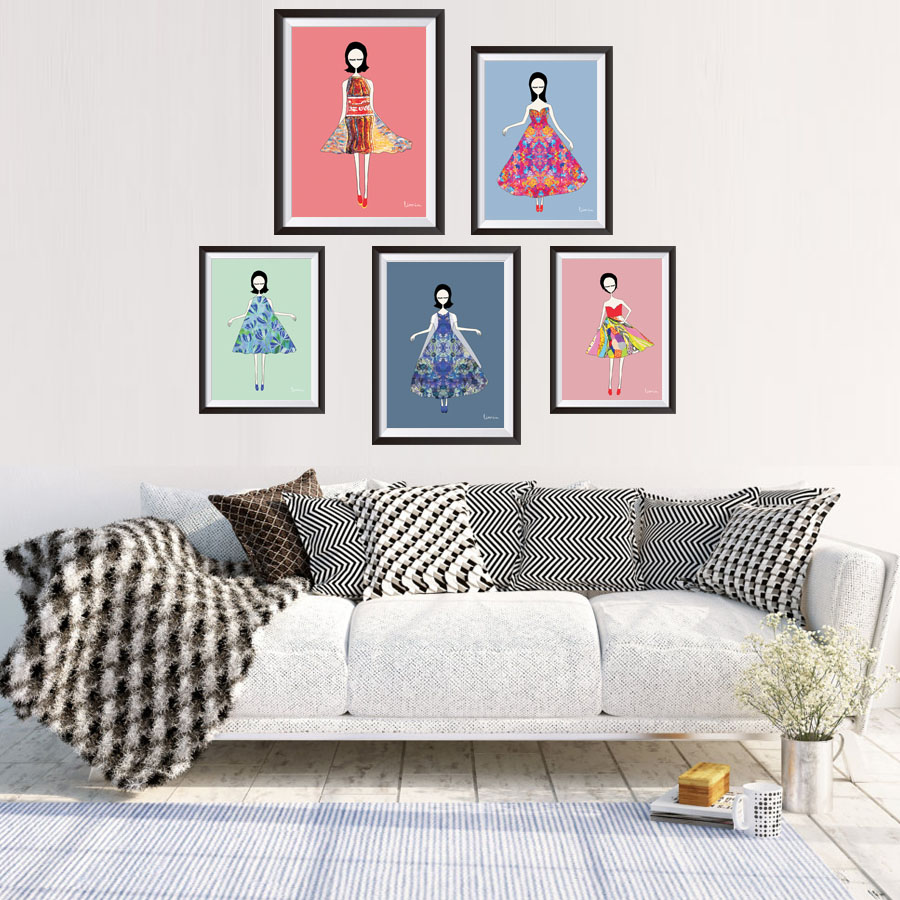 popular pop art styles buy cheap pop art styles lots from china nordic style pop art pretty girl posters and prints a4 no frame canvas painting home decor