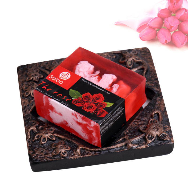 Купить с кэшбэком Natural Rose Essential Oil Soap Whitening Moisturizing Active Skin Cleansing Handmade Soap 100g Facial Cleaning Oil Control Care