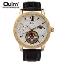Nuevo Diseño de Reloj Automático Para Hombre Reloj de Los Hombres OULM Marca de Lujo Banda de Cuero Reloj de Pulsera 30 M Resistente Al Agua Reloj Masculino Hombre