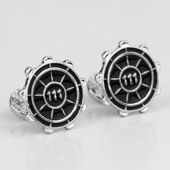 Metal Vault 111 Cufflinks two color black and red Enamel Cufflinks men women high quality jewelry