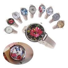Fashion Casual Ladies Silver Mesh Quartz Dress Wristwatches Relogio Feminino Hot Brand Women Creative Watch