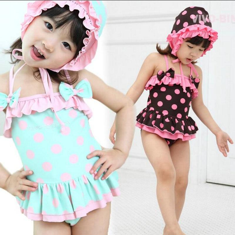 Сладък бански костюм за момичета 2-8 - Спортно облекло и аксесоари - Снимка 1